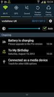 Screenshot of Battery Percentage