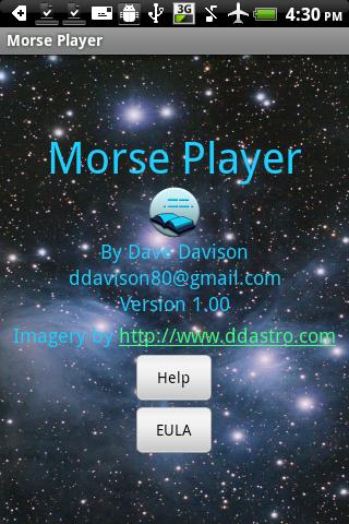 Morse Player Free - screenshot