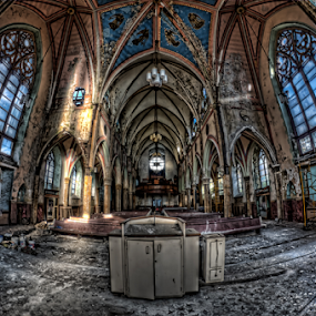 Abandoned Church by Dawn Robinson - Buildings & Architecture Decaying & Abandoned