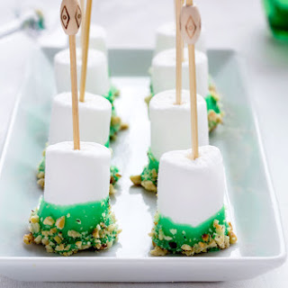 Chocolate Covered Marshmallow Pops for St. Patrick's Day