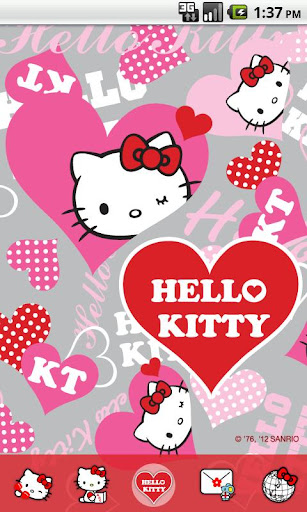 Hello Kitty Heart Pink Theme