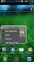 Screenshot of Popup Folder