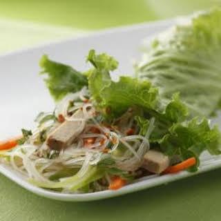 Vietnamese Tofu-Noodle Lettuce Wraps.
