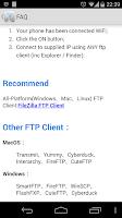 Screenshot of WiFi FTP (WiFi File Transfer)