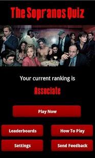 The Sopranos Quiz - screenshot thumbnail