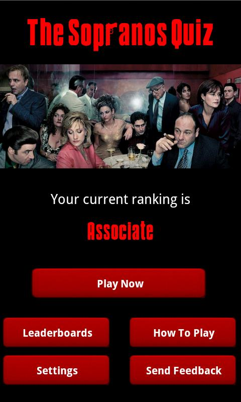 The Sopranos Quiz - screenshot