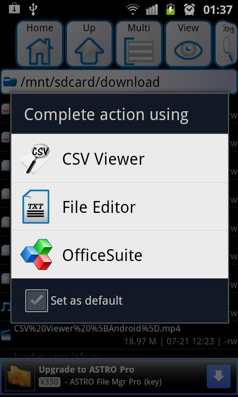 CSV Viewer- screenshot