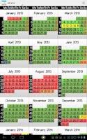 Screenshot of Holidays and Vacations