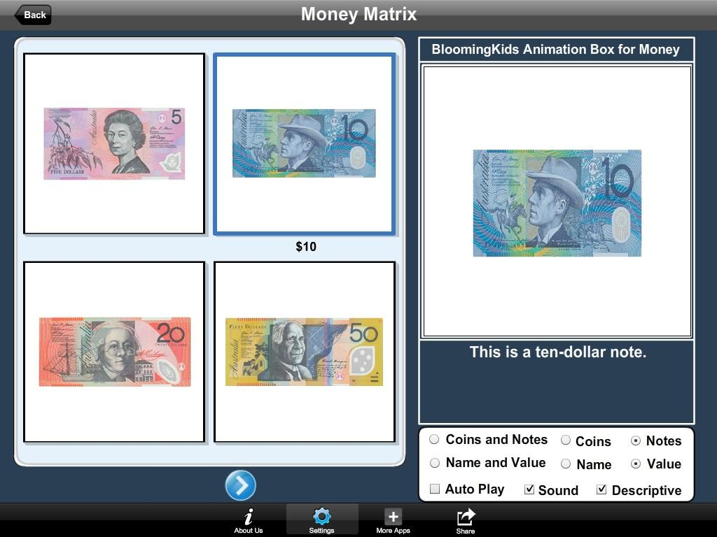 Australian Money Matrix- screenshot