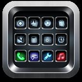 Black iPhone Launcher Theme 3D APK for Nokia