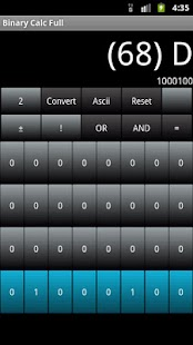 Binary Calc Lite (Converter)- screenshot thumbnail
