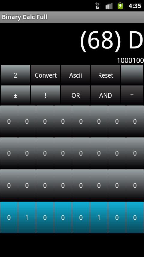 Binary Calc Lite (Converter)- screenshot