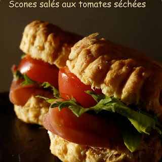 Savory Sundried Tomato-Cheddar Scones.