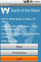 Screenshot of Bank of the West El Paso