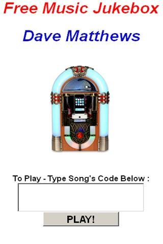 Dave Matthews JukeBox - screenshot