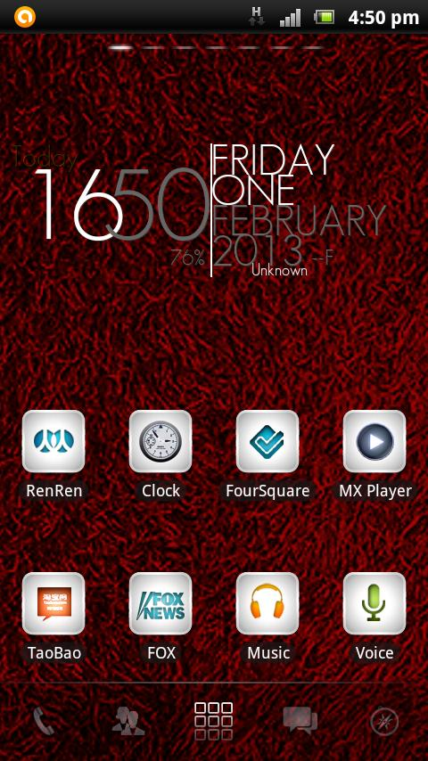 Shaggy Red GO theme - screenshot