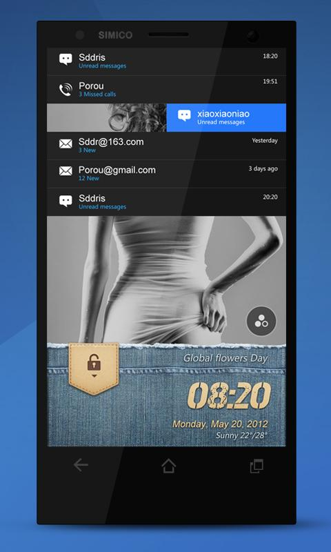 Denim【Creative Locker Theme】 - screenshot