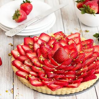 Strawberry Tart with Pastry Cream.