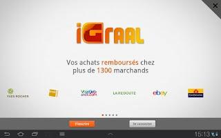Screenshot of iGraal