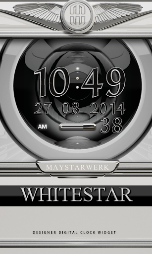 Digi Clock Widget White Star
