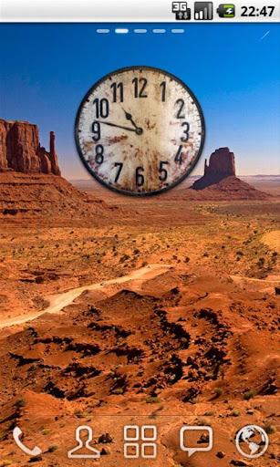 Old Wood Clock Widget