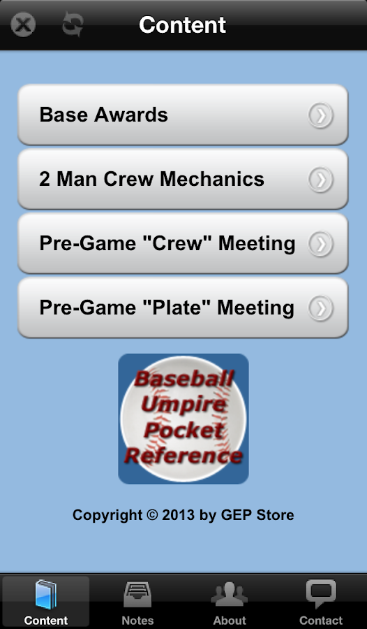 Baseball Umpire Pocket Ref - screenshot
