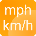 Simple speedometer km/h - mph icon
