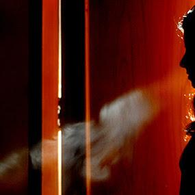 Untitled by Priyal Sokhiya - People Portraits of Women ( girl, silhouette, rajasthan, portrait, smoke )