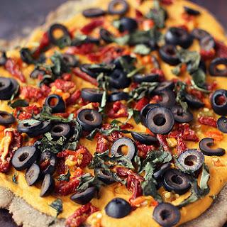 Whole-Grain Hummus Pizza – Gluten-free + Vegan