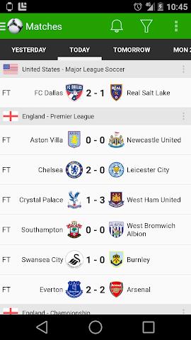 android Fußball Ergebnisse - FotMob Screenshot 2