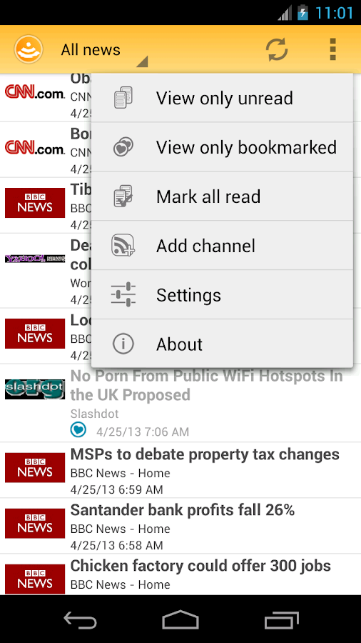 Easy RSS Reader - screenshot