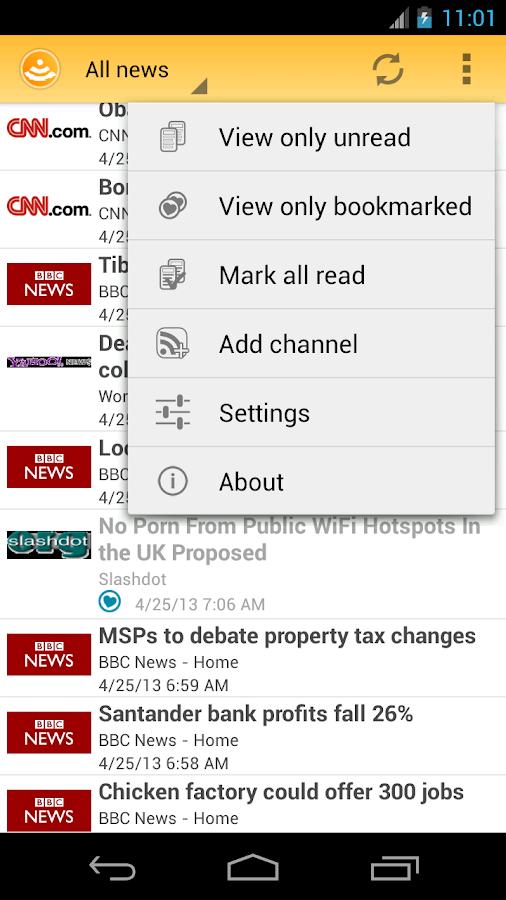 Easy RSS Reader - screenshot