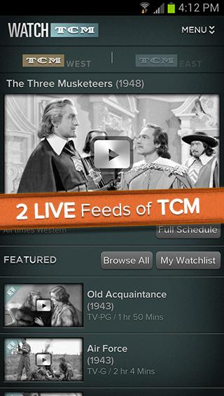 WATCH TCM - screenshot