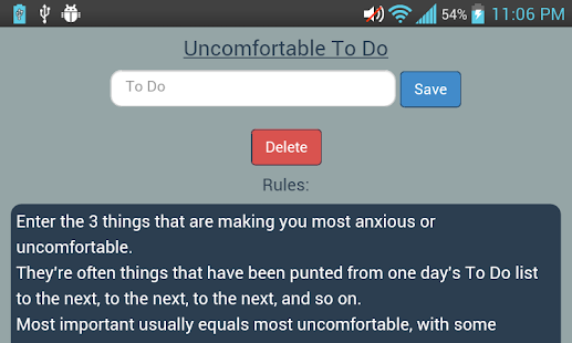 Uncomfortable To Do- screenshot thumbnail