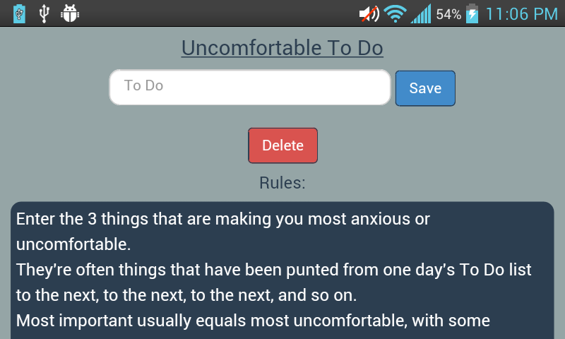 Uncomfortable To Do- screenshot