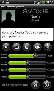 SVOX Spanish Noelia Voice - screenshot thumbnail