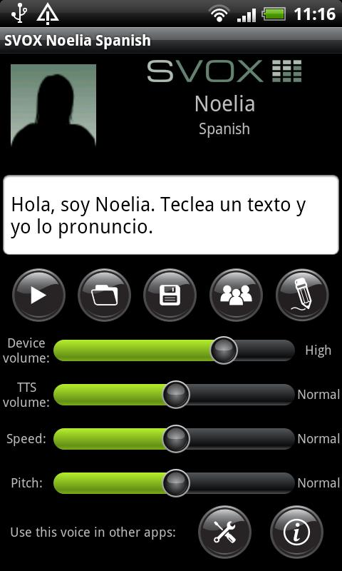 SVOX Spanish Noelia Voice - screenshot