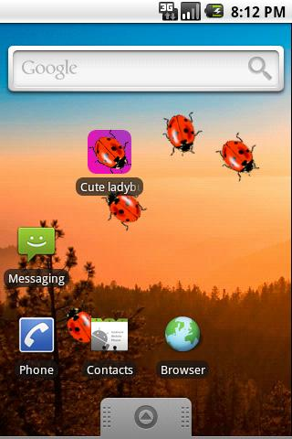 Cute Ladybugs Live Wallpaper - screenshot