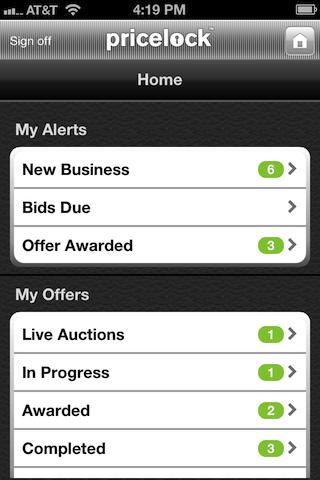 Pricelock Mobile - screenshot