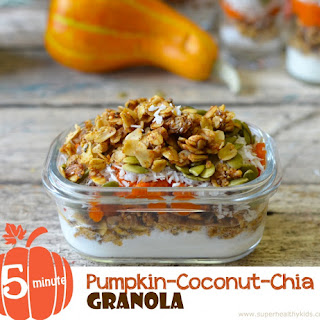 5 Minute Pumpkin Chia Coconut Granola