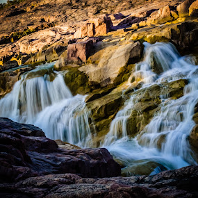"""""""Water flows, but never changes. It's always H2O.""""  ― Ljupka Cvetanova by Manoj Swaminathan - Landscapes Waterscapes ( water, hills, waterfall, rocks,  )"""