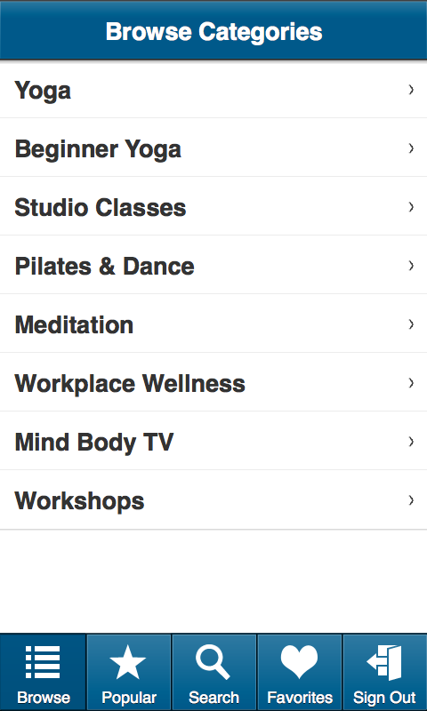 My Yoga Online - screenshot