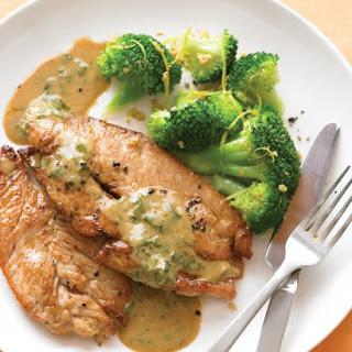 Pan-Seared Turkey Cutlets with Wine Sauce.