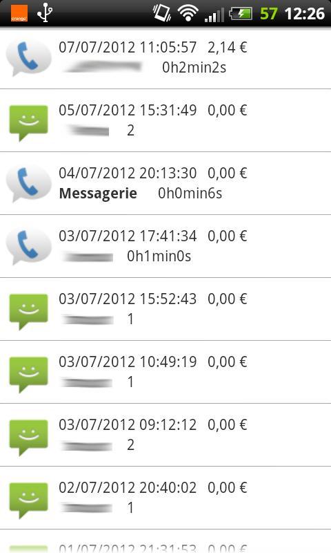 FreeMobile Suivi Conso- screenshot
