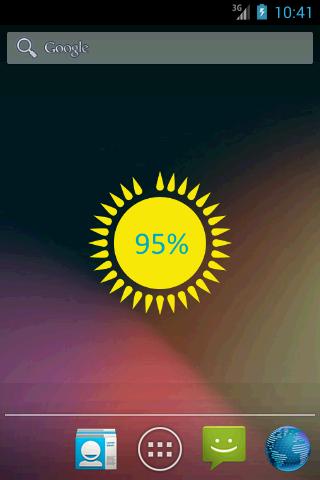 Battery Sun Widget