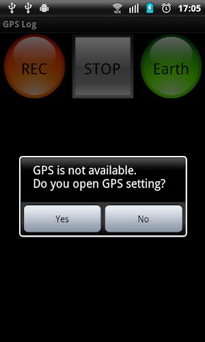 Simple GPS Log app screenshot
