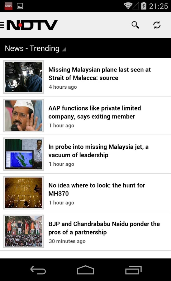 NDTV - screenshot