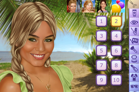 Vanessa Hudgens Make Up Game - screenshot thumbnail
