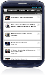 Leadership Development Videos - screenshot thumbnail