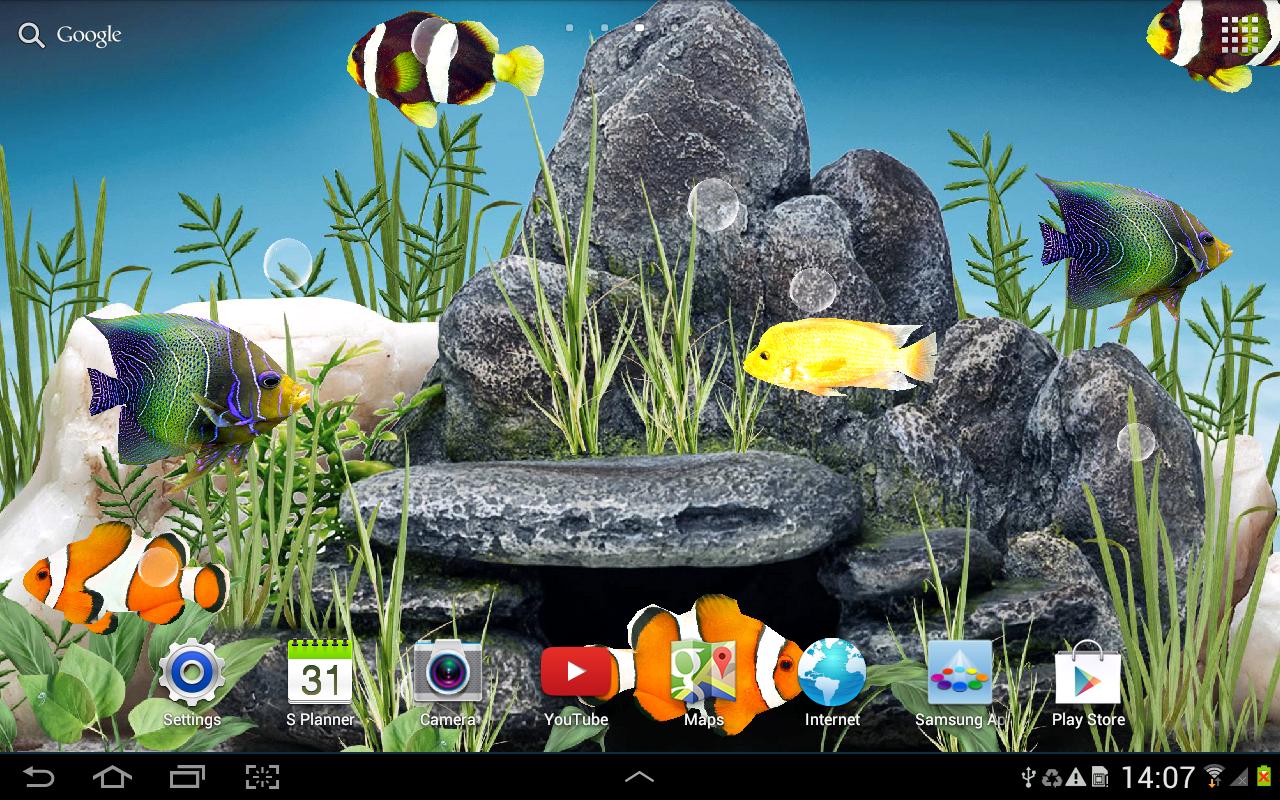 Fish tank real plants - Aquarium Live Wallpaper Screenshot